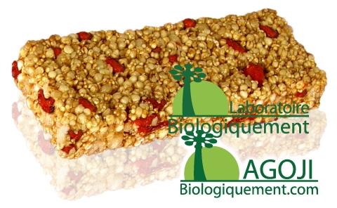 Barre de céréales aux baies Goji (11%) et à la pulpe Baobab