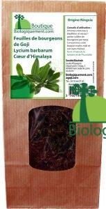 Acheter des feuilles de goji séchées sur la boutique Biologiquement.com